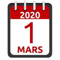 1er mars 2020
